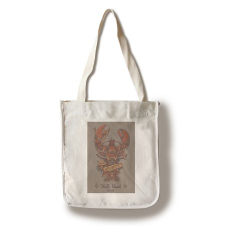 Wells Beach, Maine - You're my Lobster - Lobster Tattoo - Lantern Press Artwork (100% Cotton Tote Bag - Reusable)
