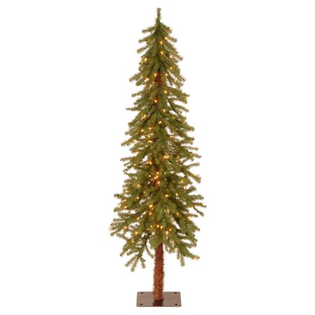 National Tree Pre-Lit 5' Hickory Cedar Artificial Christmas Tree with 150 Clear