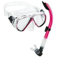 Phantom Aquatics Velocity Mask Snorkel Set - ALL BLACK