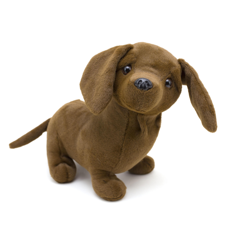 Dandee 10 - inch Puppy Plush Stuffed Toy  -  Weiner Dog