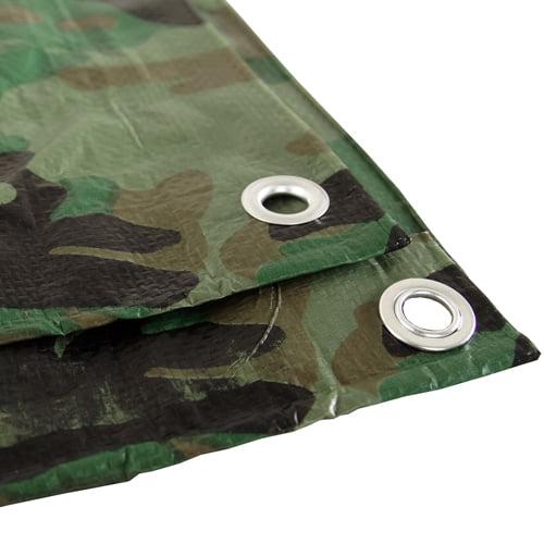 Camouflage 8x16 Green Hunting Army Camo Tarp Cover Patio Canopy Farm Shade