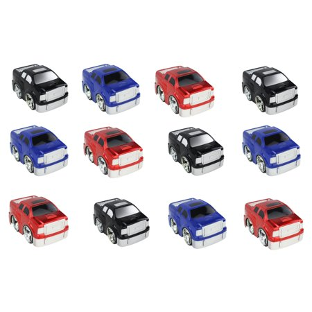 Small Pickups (12 PCS Friction Powered Small Toy Trucks, Pickup Trucks, Offered in 3 Different Colors! for Kids, Children )