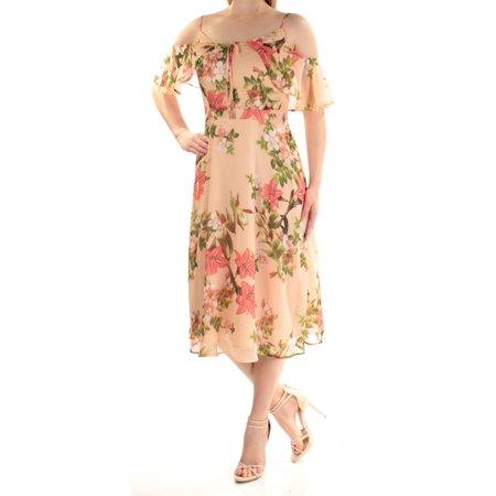 d8ddb8322fae2 Cece - Cece Peach Multi Spaghetti Strap Floral-Print Cold-Shoulder Dress 2  - Walmart.com