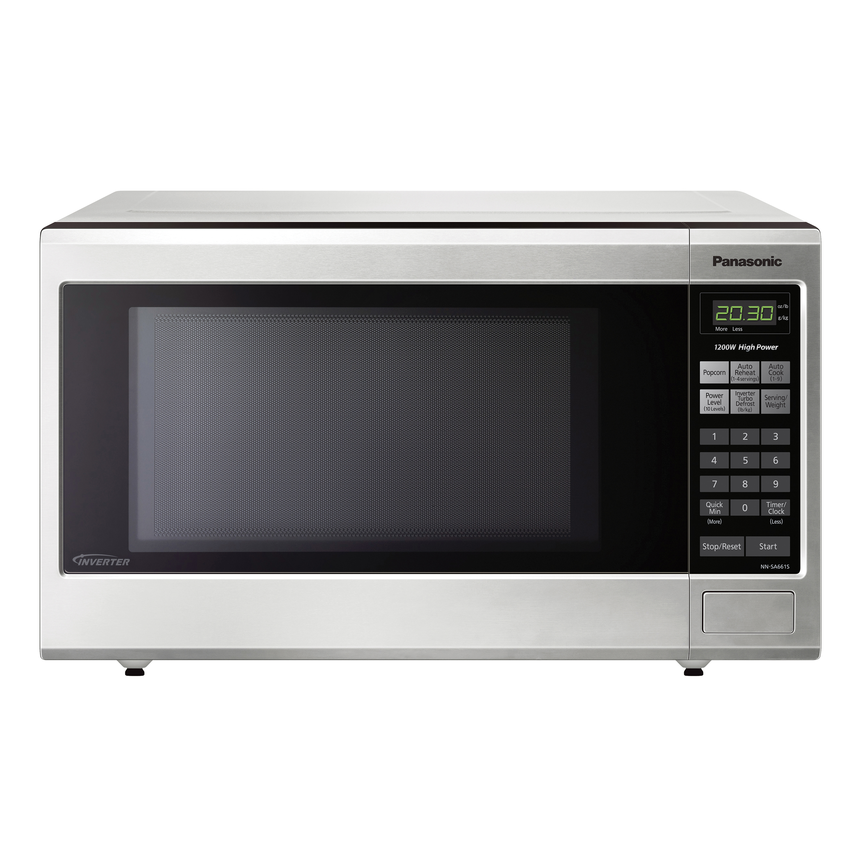 Panasonic 1 2 Cu Ft Microwave Oven Stainless Steel