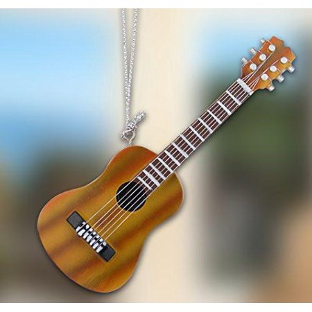 Hanging Guitar Decorations - Brown Acoustic Guitar - Realistic Strings - Gifts for a Music Teacher - Music Students - Guitar Decorations