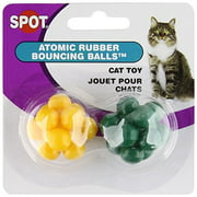 Ethical Pet Atomic Rubber Bouncing Ball Cat Toy - 2 pack