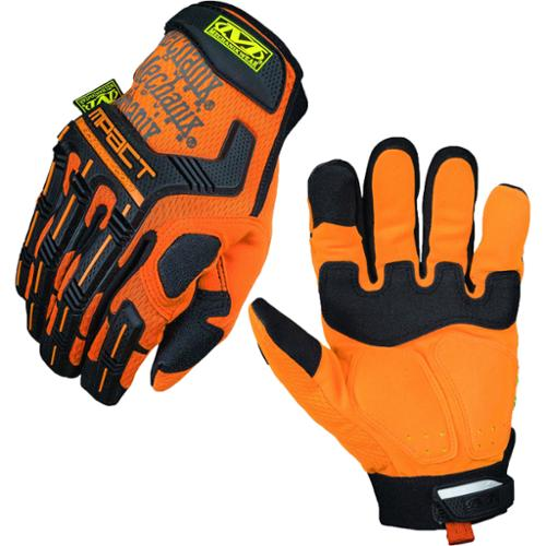 Mechanix Wear Safety M-Pact Protection High-Visibility Gloves - Orange - Large