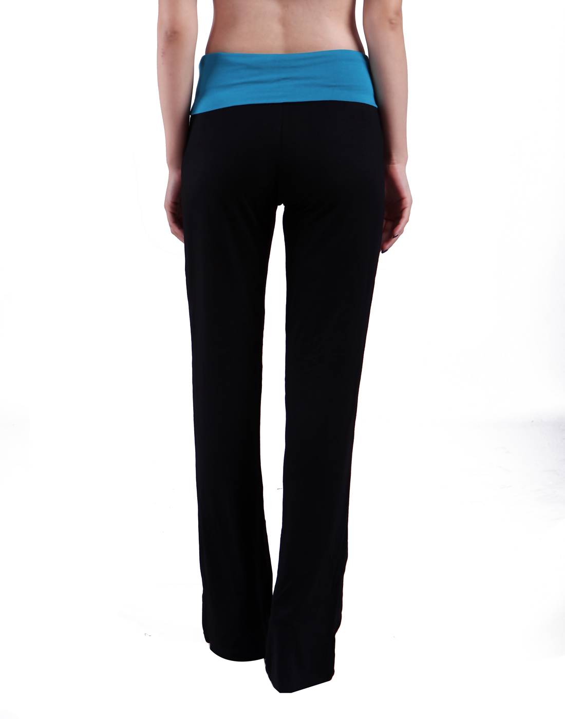 bd523c39fc HDE Women's Color Block Fold Over Waist Yoga Pants Flare Leg Workout  Leggings (X-Large, Hot Pink)