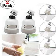 360° Swivel Faucet Splash, 2pcs Faucet Sprayer 3 Gear Adjustable, Water Saver Water Flow Settings for Kitchen, Bathroom Faucet