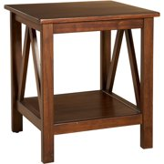 Linon Titian End Table with Bottom Shelf, 22 inches Tall, Multiple Colors