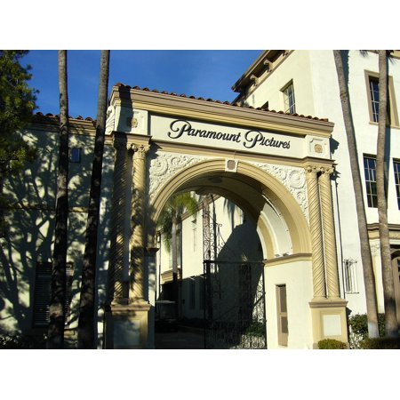 Canvas Print Gate Entrance Gateway Studio Hollywood Paramount Stretched Canvas 10 x (Gateway Entrance)