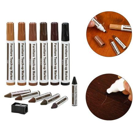 Wood Furniture Repair Pen Marker Pen Wax Scratch Filler Remover Repair Fix (Fix Scratched Plastic)