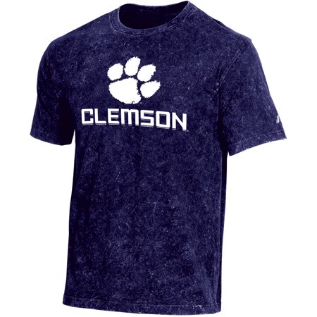 Men's Russell Purple Clemson Tigers Classic Fit Enzyme Wash T-Shirt Clemson Tigers Purple Tiger