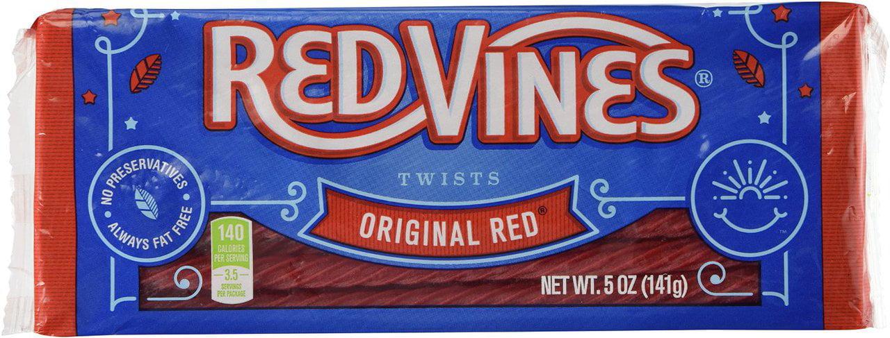 12 PACKS : Red Vines Original Red Twists 5oz