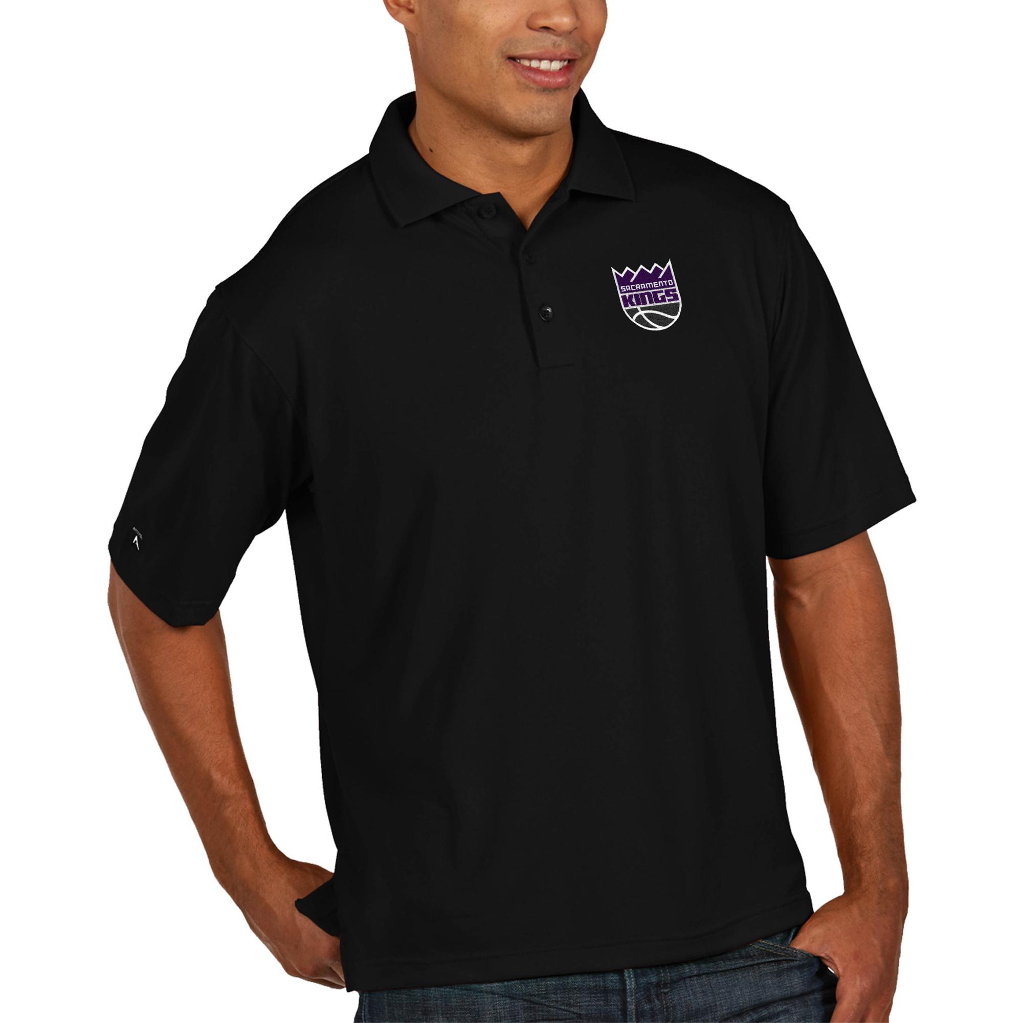 Sacramento Kings Antigua Pique Xtra Lite Big & Tall Polo - Black