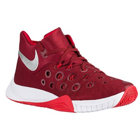 Nike Men's 2015 University Red Red Metallic Silver White Basketball Zoom Hyperquickness Performance Shoes team Cheap At The Price