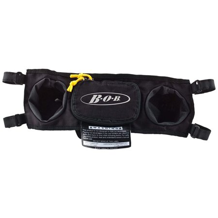 Bob Handlebar Console for Single Strollers, Black, Includes two water bottle holders and a zippered storage pocket By BOB Gear