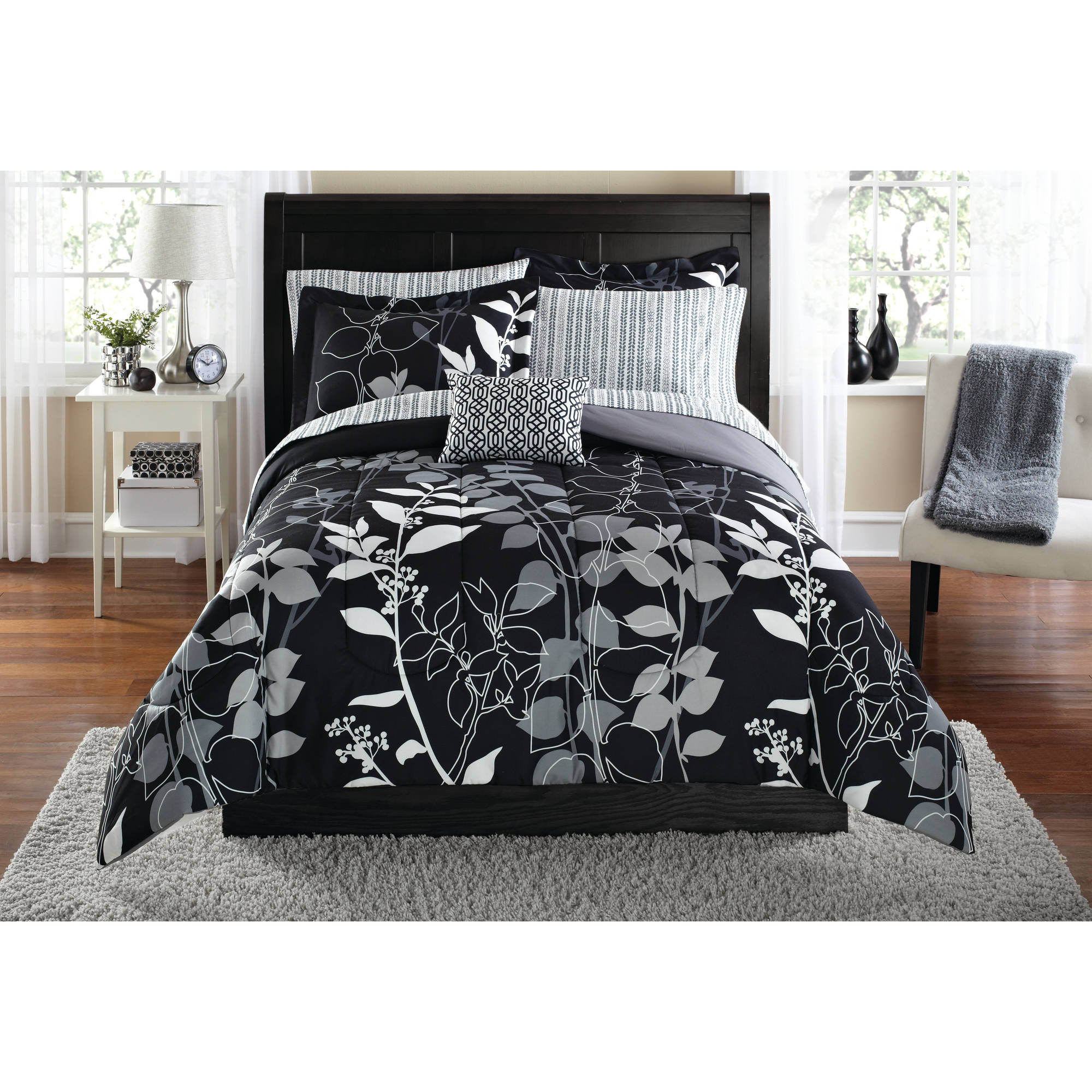 Mainstays Orkasi Bed In A Bag Coordinated Bedding Set Walmartcom