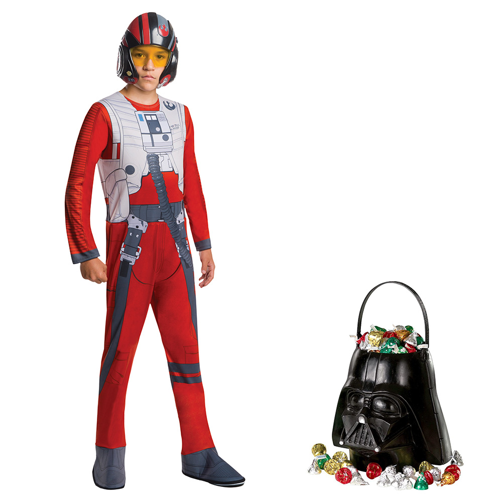 Star Wars Episode VIII: The Last Jedi - Toddler Poe Dameron Costume and Candy Pail Bundle - Size STANDARD