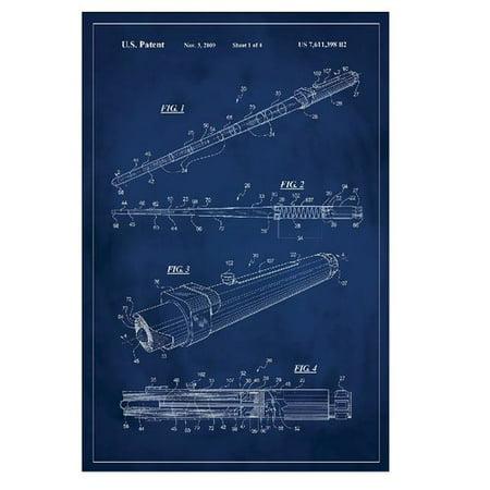 Blue Lightsaber (17 Stories 'Star Wars Lightsaber Patent' Graphic Art)