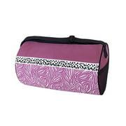 Sassi Design Girls Black Pink Candy Swirl Roll Blank Duffel Dance Bag