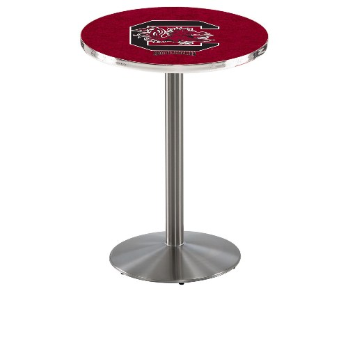 NCAA Pub Table by Holland Bar Stool, Stainless - South Carolina, 42'' - L214