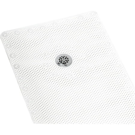 Zenith Prod. White Foam Shower Mat - Zenith Vinyl Bath Mat