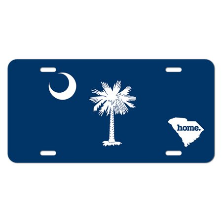 South Carolina SC Home State Novelty Metal Vanity License Tag Plate - Flag ()