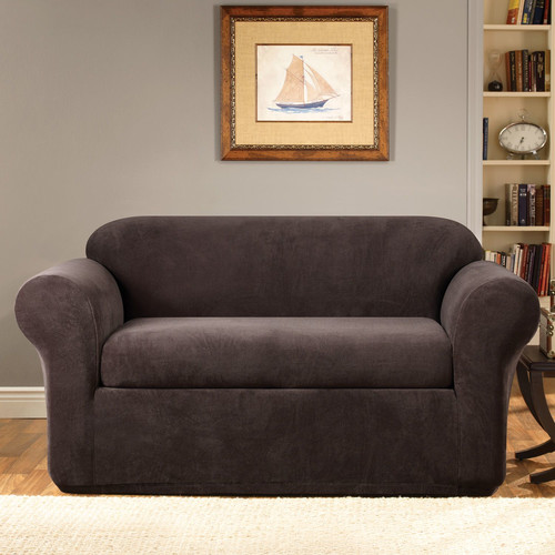Sure Fit Stretch Metro Separate Seat Loveseat Slipcover
