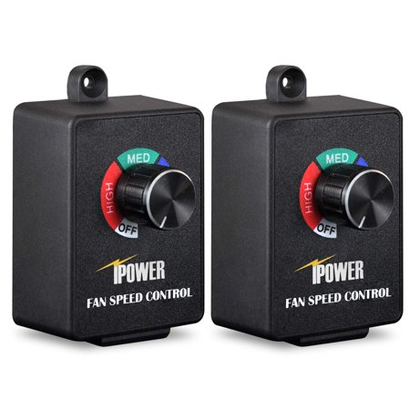 iPower Exhaust Fan Variable Speed Controller Adjuster For Duct Inline Fan Vent Blower 350W, Pack of
