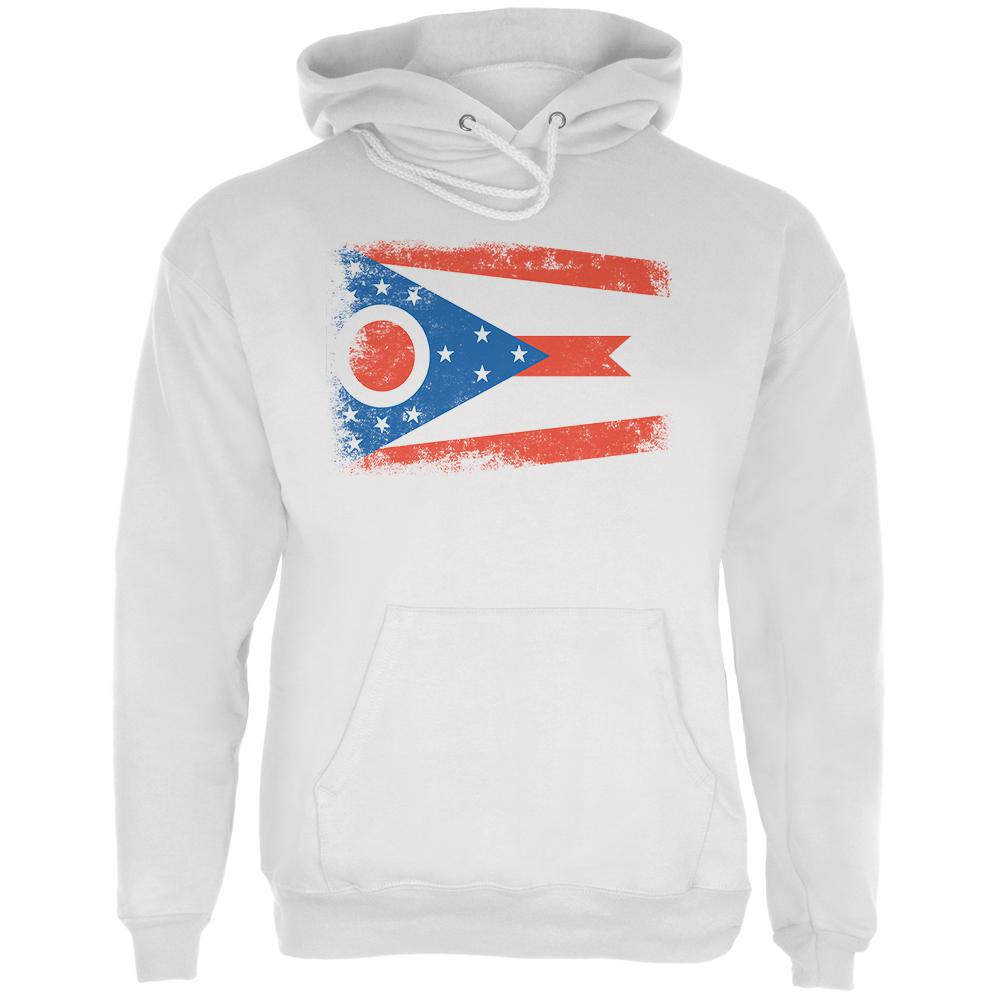 Born and Raised Ohio State Flag Mens Hoodie by Old Glory