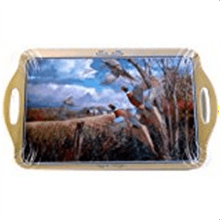 Motorhead Products 11 by 18-Inch Melamine Serving Tray, Featuring Wild Wings Licensed Art with Pheasants by David Maass