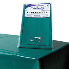 "Plastic Table Cover, 54"" x 108"", Hunter Green"