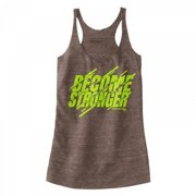 Stronger RX Brown Become Stronger Tank Women Vest, Large