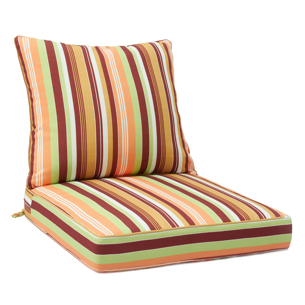 "Romhouse 25/"" Patio Waterproof Deep Seating Cushion Set Solid High Rebound Foam"