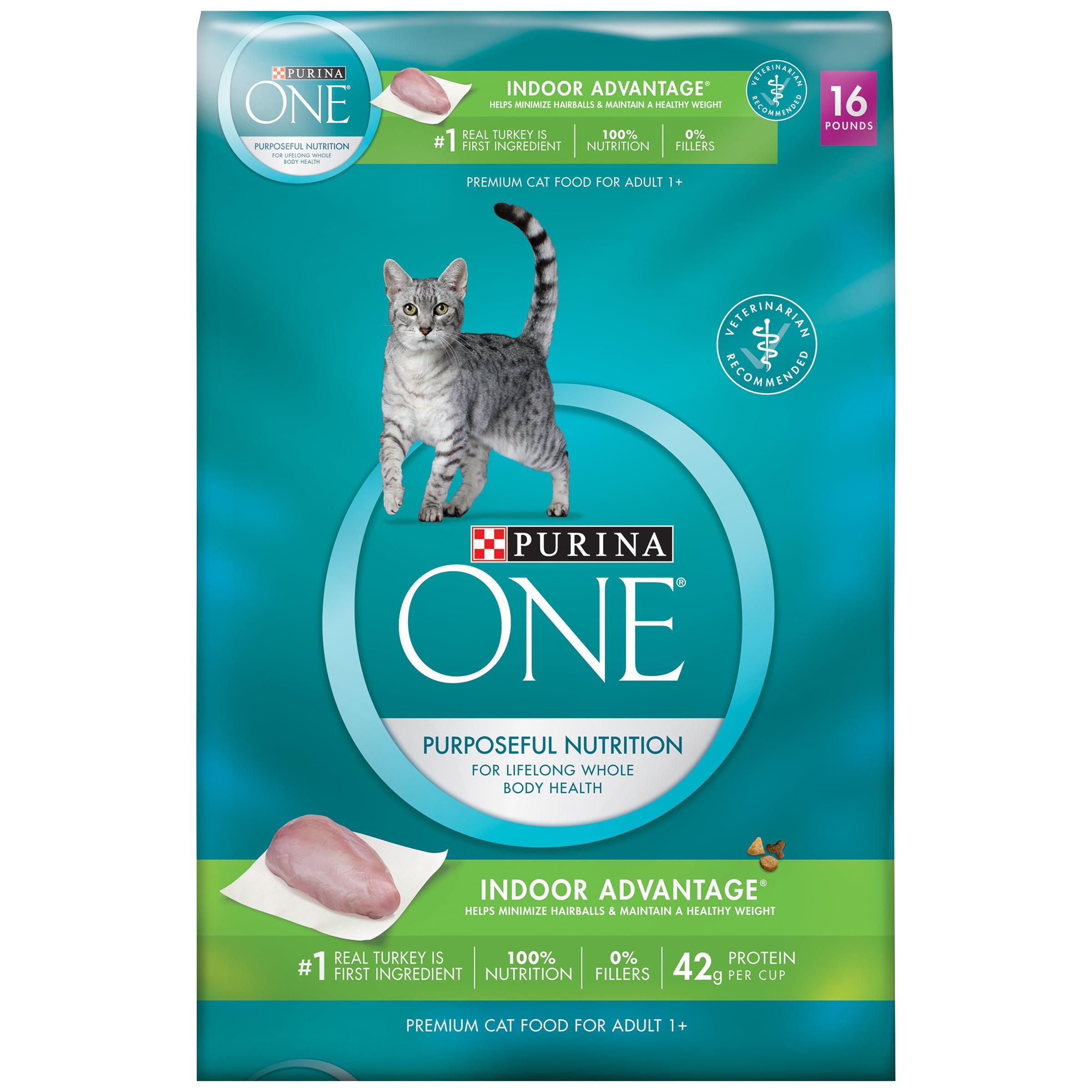 Purina ONE Indoor Advantage Adult Premium Cat Food 16 lb Bag