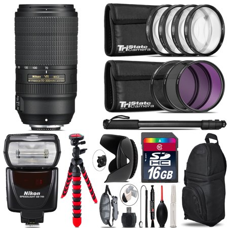 Nikon 70-300mm f/4.5-5.6E ED Lens + Nikon SB-700 AF Speedlight & More - 16GB (Quantaray Tech 10 Mx Af 70 300mm)