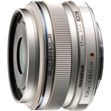 Olympus M. Zuiko Digital 17mm f/1.8 Lens, Silver, for Micro 4/3