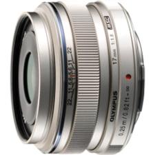 Olympus M. Zuiko Digital 17mm f/1.8 Lens, Silver, for Micro 4/3 V311050SU000