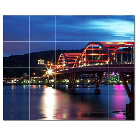Bridge Picture Ceramic Tile Mural Kitchen Backsplash Bathroom Shower 4
