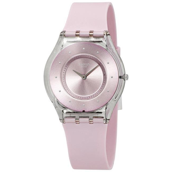 Swatch Swatch Skin Pink Pastel Pink Dial Silicone Strap Unisex