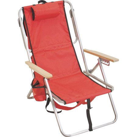 Rio sc627 3234 og lay flat backpack chair with cooler 30 in h x 22 1 4 in w x 29 1 2 in d - Backpack chairs walmart ...