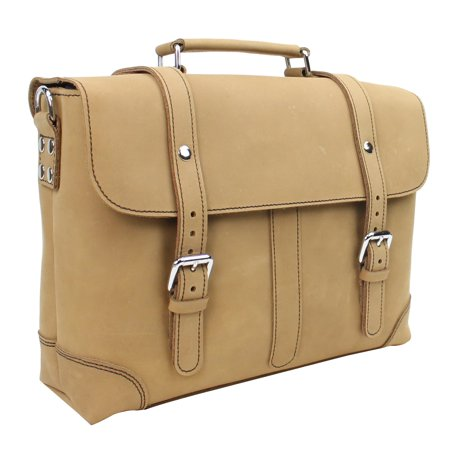 Vagarant Traveler Classic Medium Full Grain Leather Messenger Laptop Bag M61.NB Organized Travelers Leather