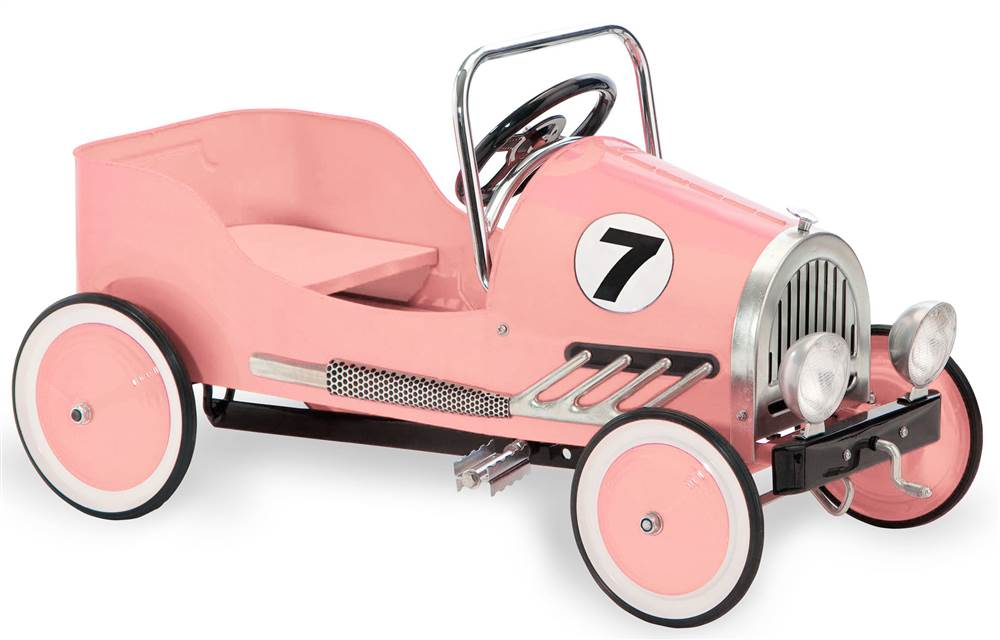 Click here to buy Pink Retro Pedal Car by Morgan Cycle.