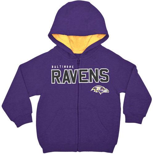 Baltimore Ravens Toddler Fan Gear Stated Full Zip Hoodie - Purple