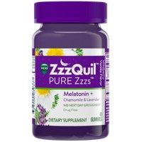 3 Pack - Vicks Pure Zzzs Melatonin Sleep Aid Gummies, Wildberry Vanilla, 48 ea