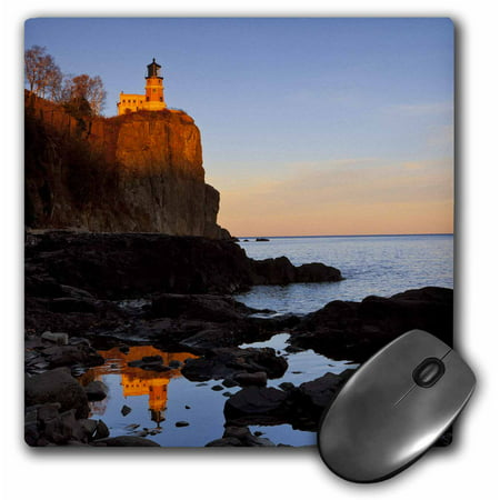 3dRose Split Rock Lighthouse, Two Harbors, Minnesota - US24 CHA0071 - Chuck Haney, Mouse Pad, 8 by 8 inches