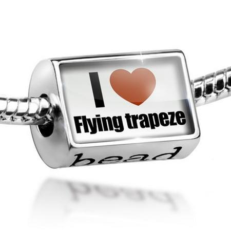 Bead I Love flying trapeze Charm Fits All European Bracelets (Trapeze Arts)