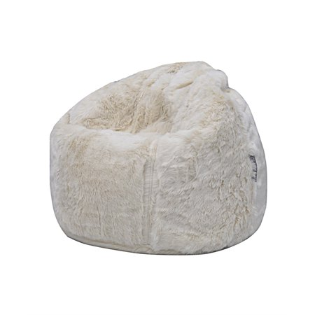 bb096193ac Posh - Faux Fur Bean Bag Chair - Walmart.com