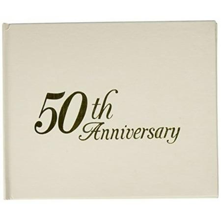 50th Anniversary Guest Book Personalized (Darice P35447-50G 50th Anniversary Embossed Guest Book with Header,)